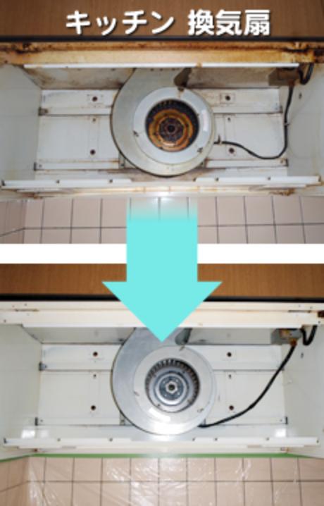 キッチン 換気扇のビフォーアフター