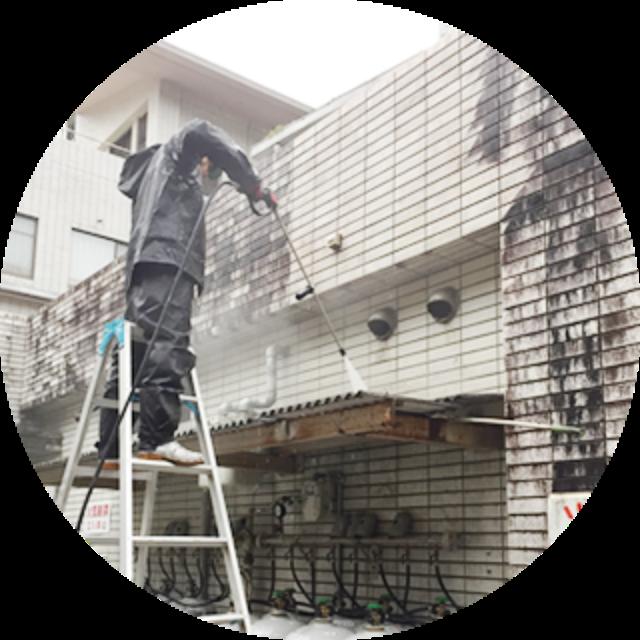 外壁や玄関周りの高圧洗浄
