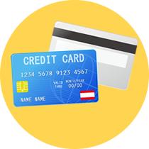 お支払いはカードで!