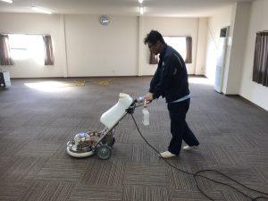 久留米市事務所カーペット洗浄