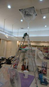 筑紫野市店舗天井型エアコン洗浄