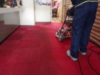 久留米市喫茶店床機械洗浄