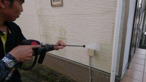 福岡県三潴町住宅外壁洗浄
