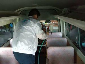 久留米市正進幼稚園ウイルスコーティング施工